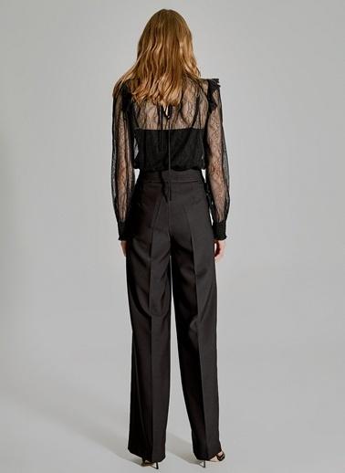 People By Fabrika Şerit Detaylı Pantolon Siyah